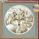 WOLF Cross Stitch Kit Mountain Wolves CREATIVE ACCENTS