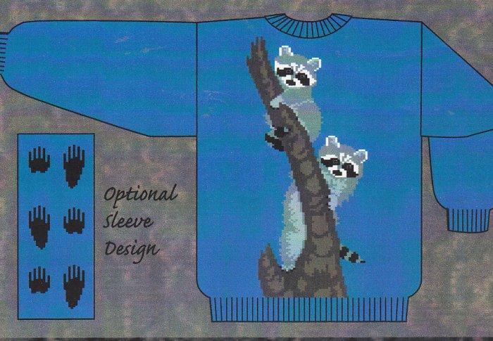 RACOON Knitting Pattern - Charts - Ringtail BANDITS by Needle Beetle