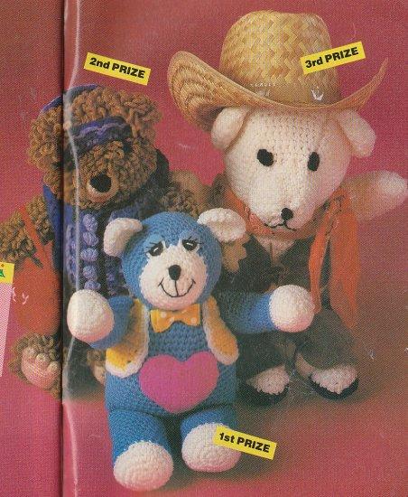 Crochet * 3 * Prize Winning BEARS Easy Jacket AFGHAN Patterns