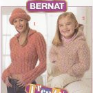 **Crochet Child's Hooded Sweatshirt TEEN Top & Hat Patterns