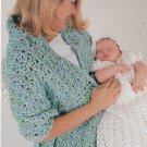 **Knit/Crochet BABY Christening Set SHAWL Blankets Patterns +