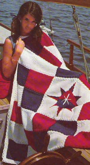 KNIT NAUTICAL Afghan CROCHET HeirLoom Afghan Patterns 11 More