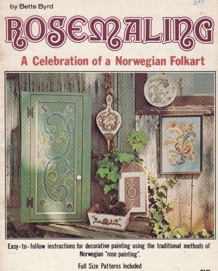 **Bette Byrd - ROSEMALING Norwegian Folkart - VINTAGE 1976