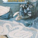 **Annie&#39;s Attic SWAN LAKE Bath Set *3* Swans to Crochet