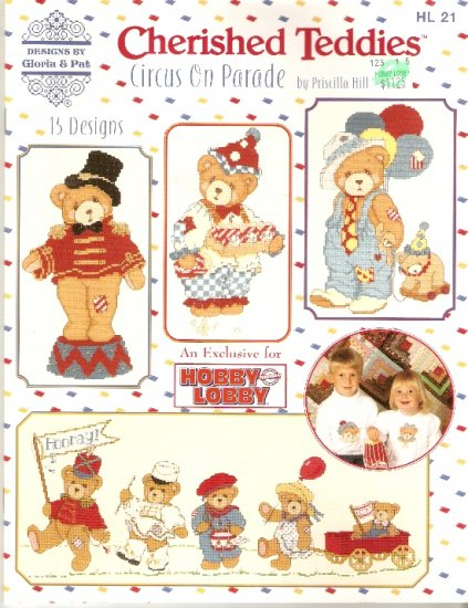 OOP *Cross Stitch CHERISHED TEDDIES by GLORIA and PAT CIRCUS ON PARADE