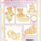 Cross Stitch CHERISHED TEDDIES  FROM BIRTH TO TEN YEARS