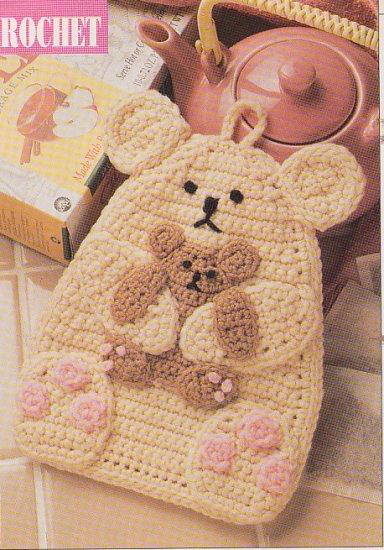 Crochet BABY Blanket Knit BUBBLE Suit BEAR Pot Holder Cross Stitch
