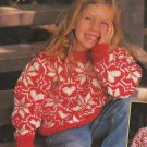 Knit Mother/Daughter BULKY Hearts & Snowflakes Pullovers