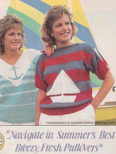 Knit 2 SAILING Pullovers - Anchor and Sailboat Design
