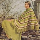 Knit Stylish Poncho and Skirt Pattern