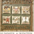Prairie Schooler Cross Stitch  SUMMER AND WINTER  Number 91   2001