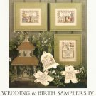 Prairie Schooler Cross Stitch WEDDING -BIRTH SAMPLER IV Number 122   2005