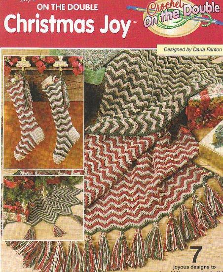CROCHET Christmas AFGHAN TREE SKIRT Stocking Patterns