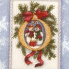 Cross Stitch KIT - SNOW FAMILY GIFTS IN THE SNOW GOLD NUGGETS