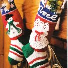 *CROCHET Christmas Stockings Tree Skirt Decorations Bear Hat and Scarf
