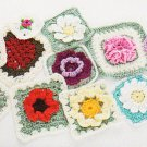 *Annie's Attic  - 101 Granny Squares - Flowers Plus