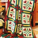 *Crochet Home Magazine - Floral Block Afghan - Placemats/Potholder