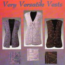 "Knit * 5 * Very Versatile Vests Sizes: 38"" to 56"" Chest"