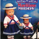 "*Crochet Sisters Are Special Maritime Middy Doll Pattern 12"" and 18"" Daisy Baby"