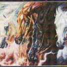 *FOUR HORSES OF APOCALYPSE Cross Stitch Pattern Kustom Krafts 2001