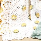 *Crochet Lacy Rose Afghan Daisy Pineapple Afghan Patterns PLUS