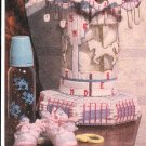 * Merry-Go-Round Cross Stitch Birth Announcement Crochet Lampshade