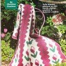 *Crochet Red Hat, Tulip Afghan, Flower Design Rug, Doll, Slippers