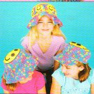 *Crochet Ripple Afghan Pattern - Flower Tote - 3 Happy Hats for Kids PLUS