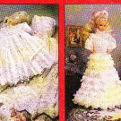 Crochet Christening + Outfit Doll Triplet - Fashion Doll Patterns