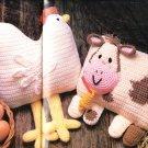 *Annie's Attic Crochet Country Dolls Pillows Child's Vest