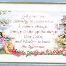 *stamped cross stitch kit  GOD GRANT ME THE SERENITY *