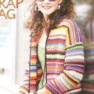 *Crochet Scrap Yarn Sweater - Afghan - Pillow - Purse Plus
