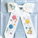 *Cross Stitch KIT  BOW TIES   It's a Party  Door Decoration