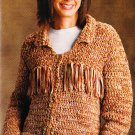 **Crochet Annie's Attic Baby Onesie and Cap Western Jacket Fancy Potholder and Coasters
