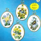 *Janlynn Embroidery Kit   BIRDS & BUTTERFLIES 4 Patterns