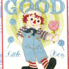 *Raggedy Ann & Andy Cross Stitch KIT ~ GOOD LITTLE BOY