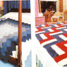 *Crochet and Knit * 33 * Afghan Patterns Southwest Design Log Cabin Baby