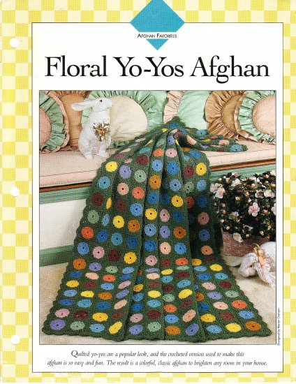 *Afghan Favorites - Floral Yo-Yos Afghan Pattern