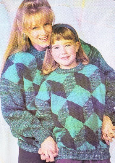 *Patons Family Treasures - Women - Men - Kids Sweaters to Knit