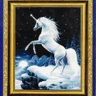 *Unicorn CROSS STITCH Kustom Krafts MOONLIGHT MAGIC 2003