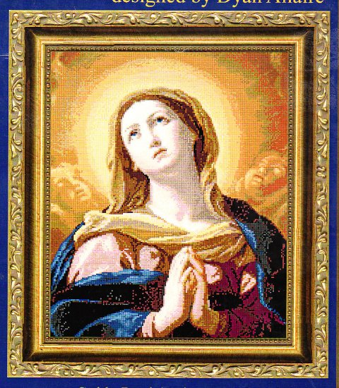 *VIRGIN IN GLORY CROSS STITCH PATTERN - KUSTOM KRAFTS 2001