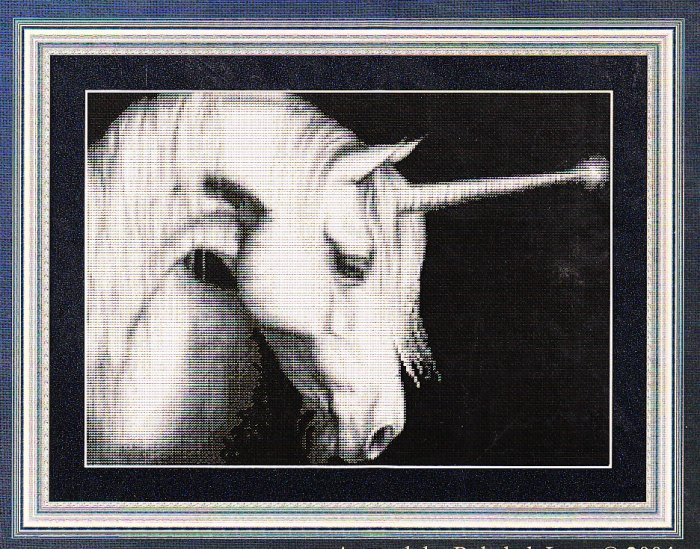 *Unicorn CROSS STITCH Kustom Krafts  GRACE THE DAWN 2004