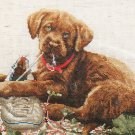 *DOG Cross Stitch Kit  Lab Puppy with THE MISSING SHOE