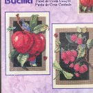 * FRUIT Cross Stitch Kit  APPLES & RASPBERRIES  2001 Bucilla