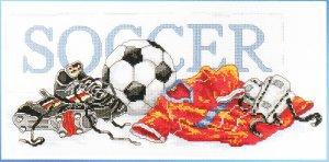 * SOCCER FOOTBALL Cross Stitch Kit  2004
