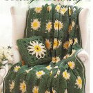 * Bernat Cottage Living - 4   Crocheted Afghan Patterns Pillows Ducky Toy