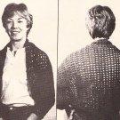 * Crochet Vintage 1980 - Super Shrug - Rose Pillow - Man's Hat
