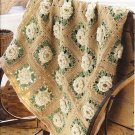 * Crochet/Knit Afghan Booklet - Rose Pattern- Ripple Pattern - Lacy ribbons -