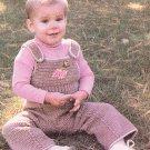 * Crochet World - 1986 - Raglan Cardigan -- Dolls -  Fashion Doll Patt -* Watermelon Dress - Rompers