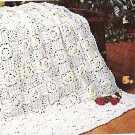 *Knit / Crochet  * 8 * Afghans - Vintage 1977 - Bridal Rose pattern